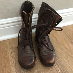 Steve Madden Leather Combat Boots